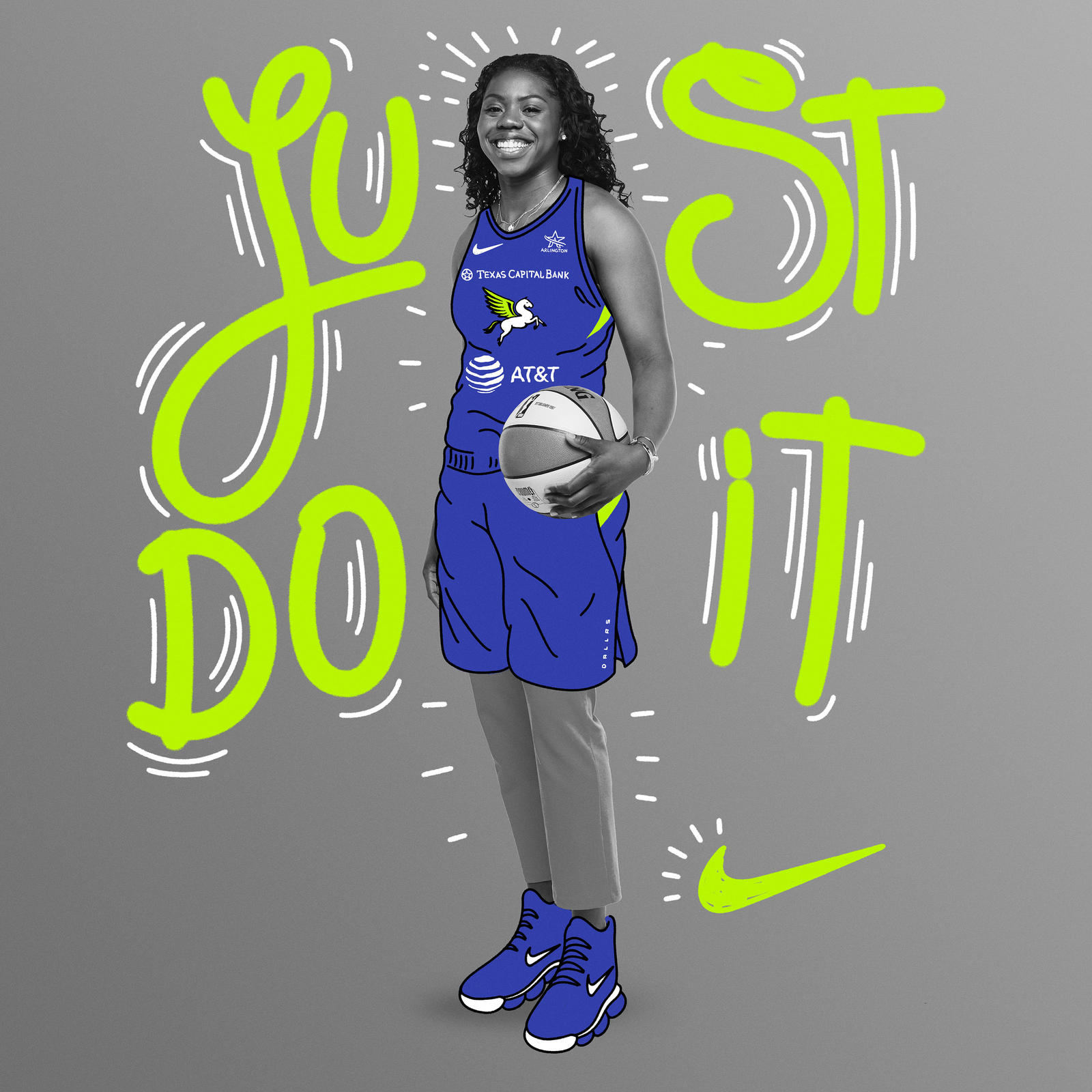 If winning a national championship in 2018 wasn't enough, the 5'8″ guard scored the game-winning shots in both the semifinal and title games. In joining Nike, Ogunbowale looks forward to entering into a family built on storied player partnerships.