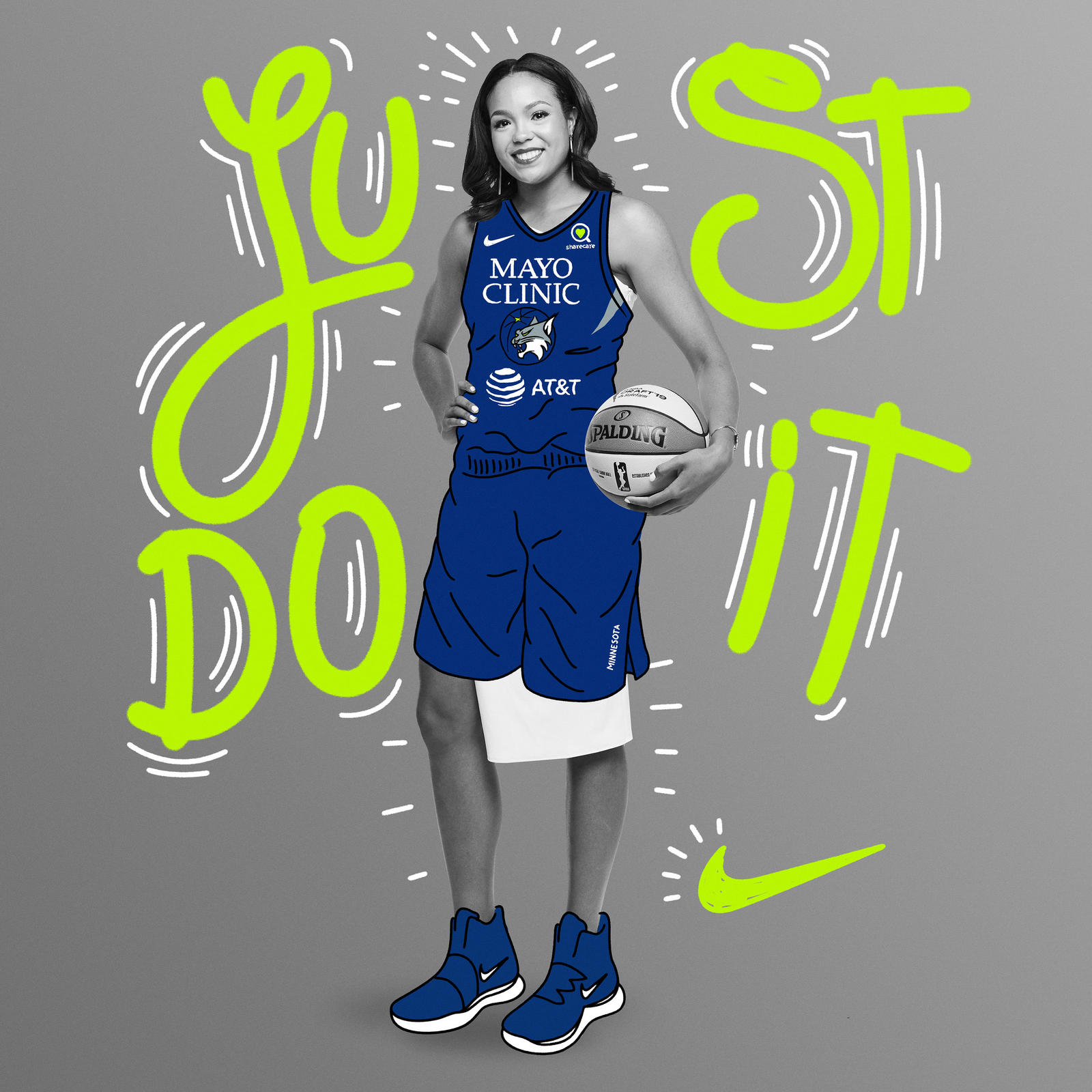 The 6'2″ forward ended her career at UConn as only the fifth Husky to join 2,000-point / 1,000 rebound club, joining Nike athletes Breanna Stewart and Tina Charles. She's excited and honored to join the excellence of the Nike family.