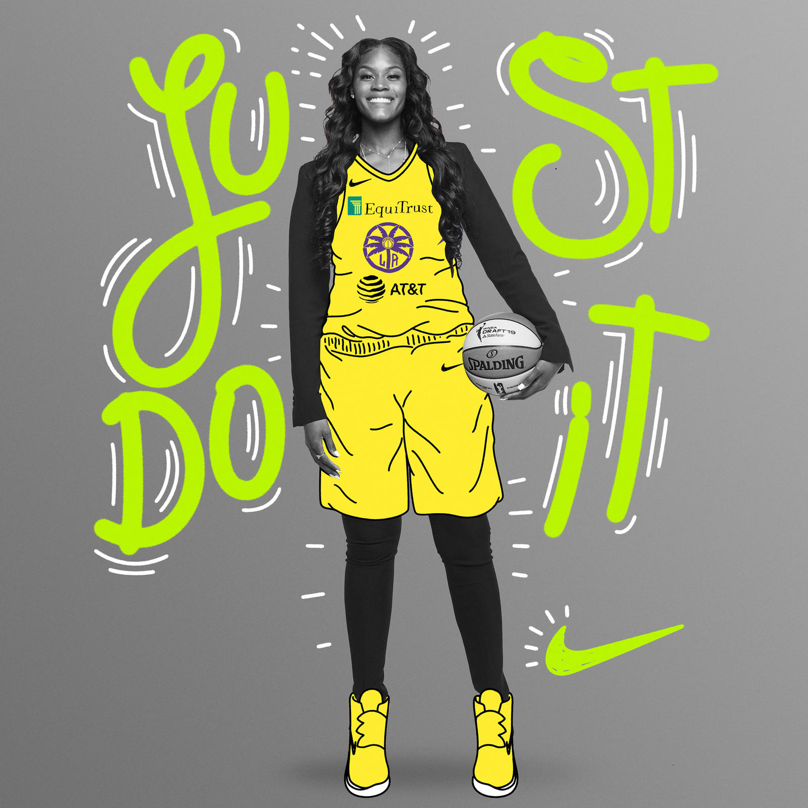 The 6'7″ center won a national championship in 2019 and ends her collegiate career with the highest career field goal percentage in Lady Bears history. Brown is thrilled to join the Nike family after wearing the brand since her youth playing days.