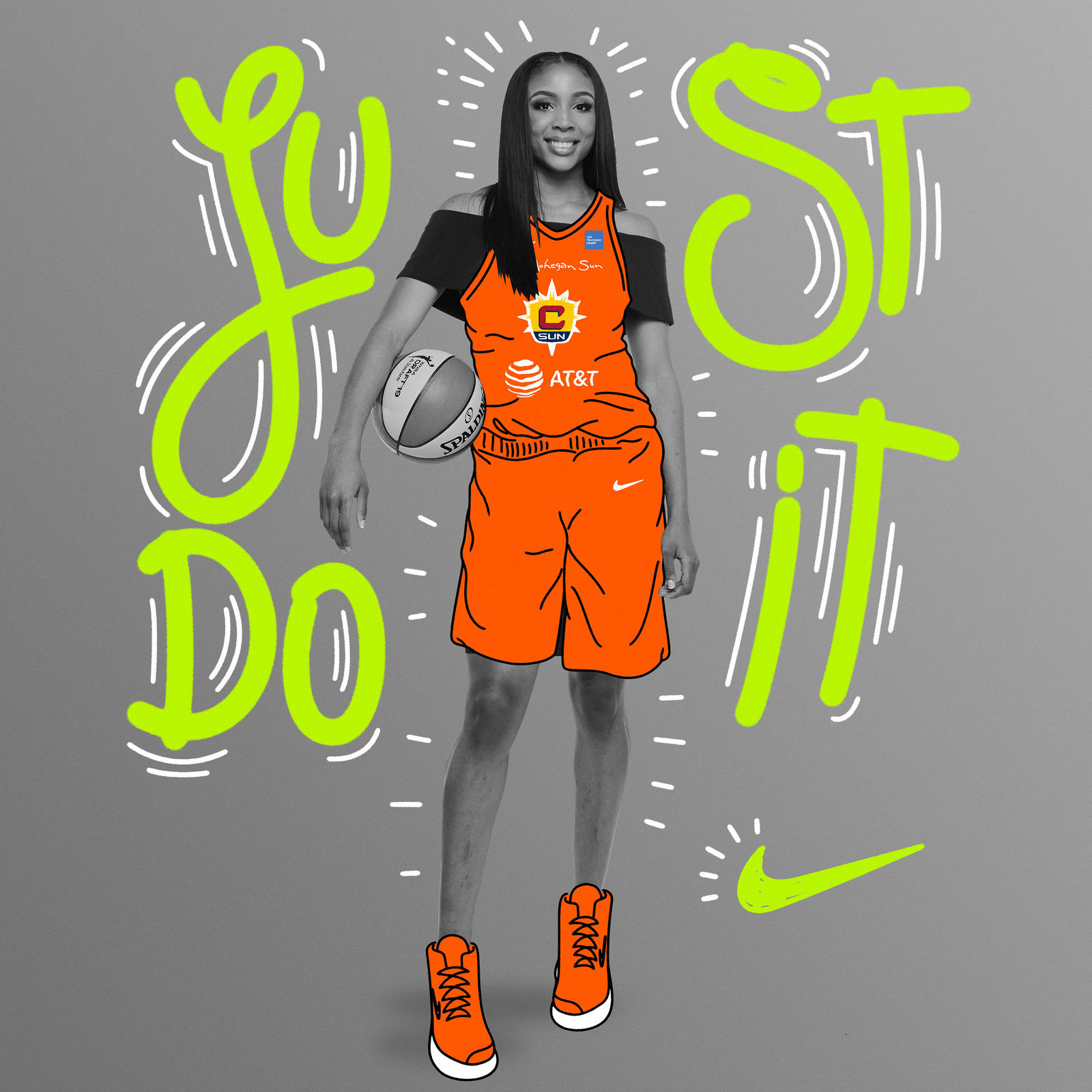 The most dominant rebounder in college basketball last season, the 6'4″ forward became the first women's player in more than 15 years to tally 30 rebounds and 30 points in a single game. She cites the brand's innovation, creativity and style as top reasons for her excitement in joining the Nike family.