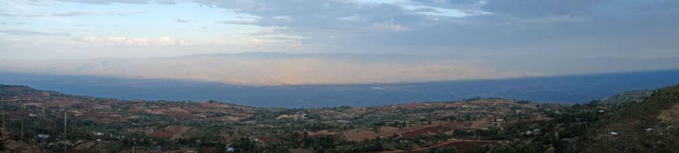 View from a hillside café near Iten, Elgeyo-Marakwet county. © Megan Laws
