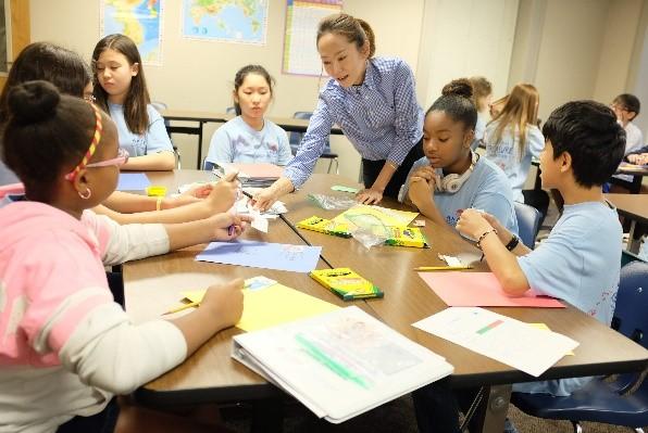 Ms. Sara Park uses art to teach Korean language and culture