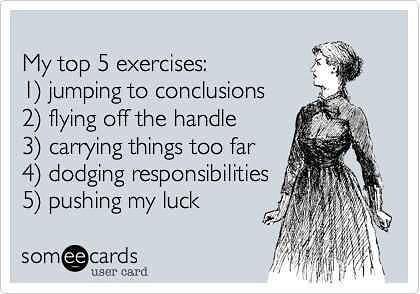 Most of us exercise more then we thought! Happy Sunday! . . . #sundayfunday #sundaygoals #gettingreadyfortheweek #lol #lovethis #haha