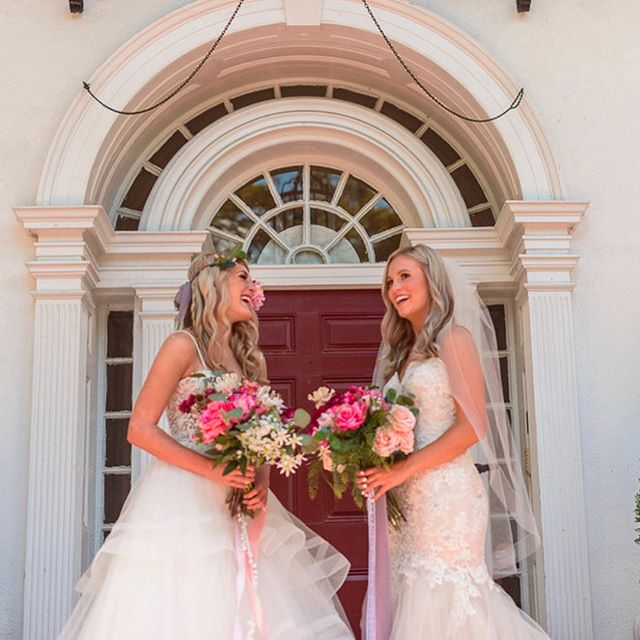 Do you know why these ladies are so happy? The @nationalbridalsaleevent starts today! All gowns including the ones they are wearing are on sale up to 70% off.  Still have a few appts open for Sunday and a few next week! Happy Friday peeps! . . . #nationalbridalsaleevent #sale #bridalgown #weddinggowns #saleoftheyear #happyfriday #readyfortheweekend #savngmoney
