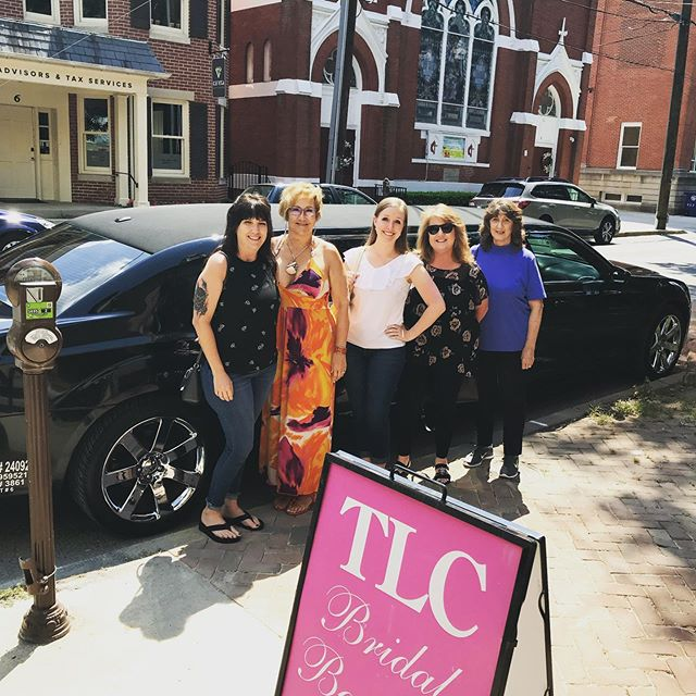 Our brides show up in style and say yes to their @casablancabridal dress! TLC brides... sassy, classy and a lil bad assy! Happy Sunday! . . . #tlcbridesarethebest #limousine #firstclass #lovethis #ourfrederick #glambride #bridalgoals #sundayfunday