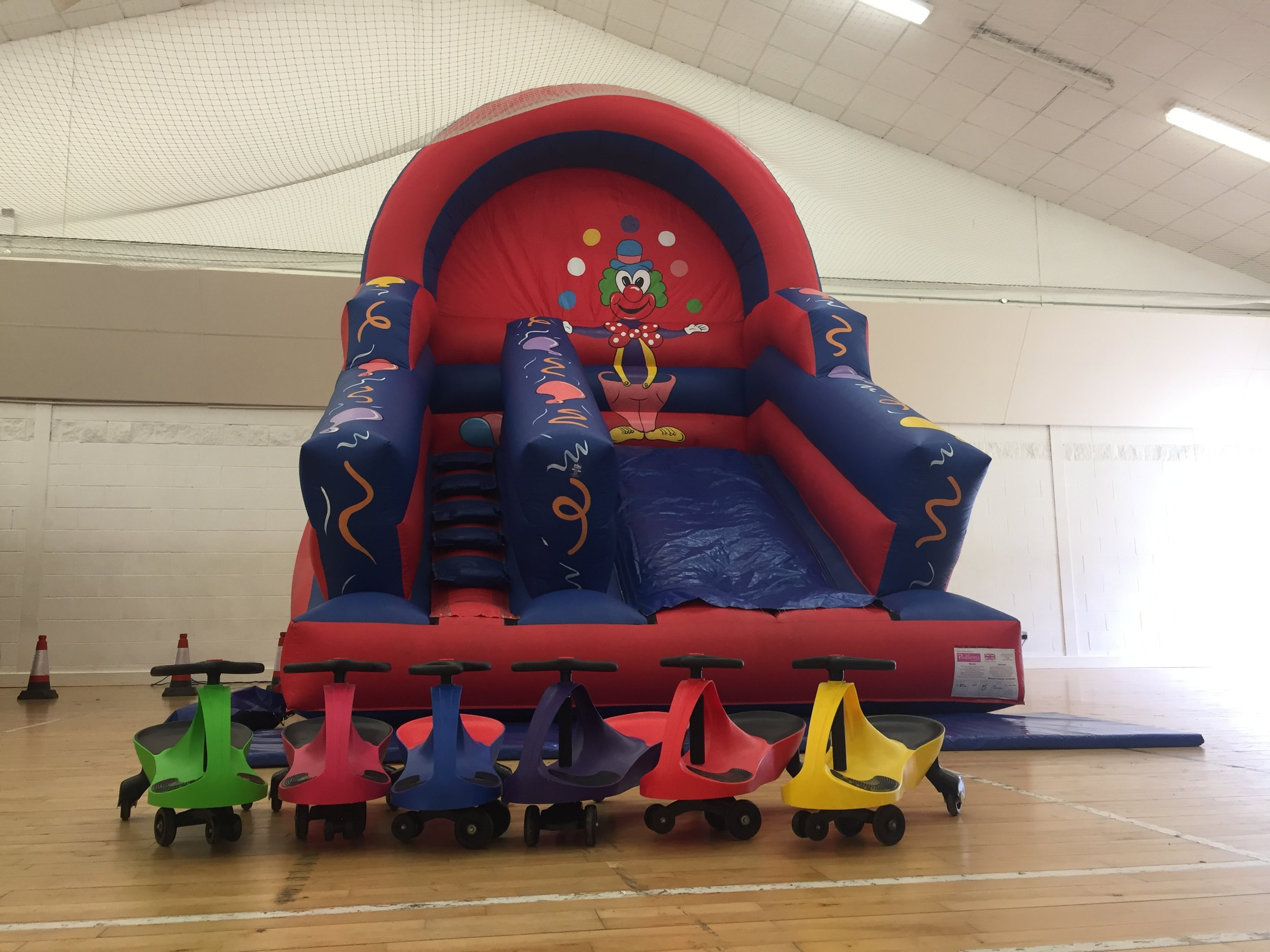Inflatable Slides can be combined with our Bouncy Castles to provide a good range of activities.