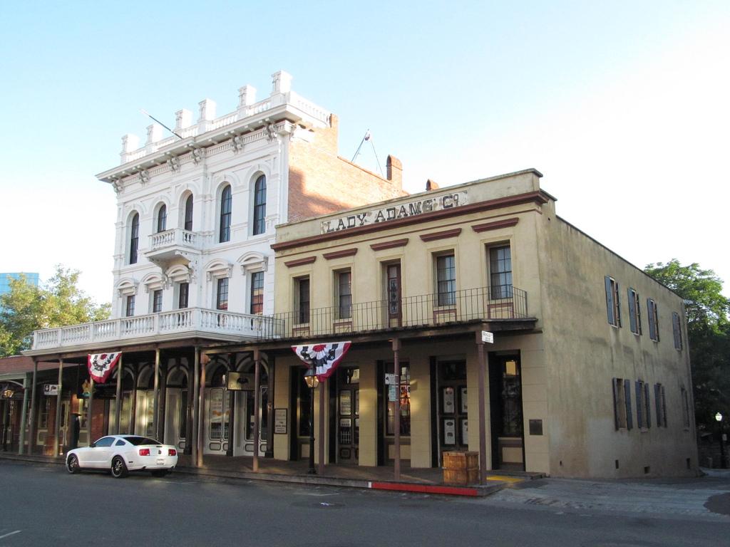 Old Town Sacramento, featured in Greta Gerwig's  Lady Bird . Photo by Dougtone