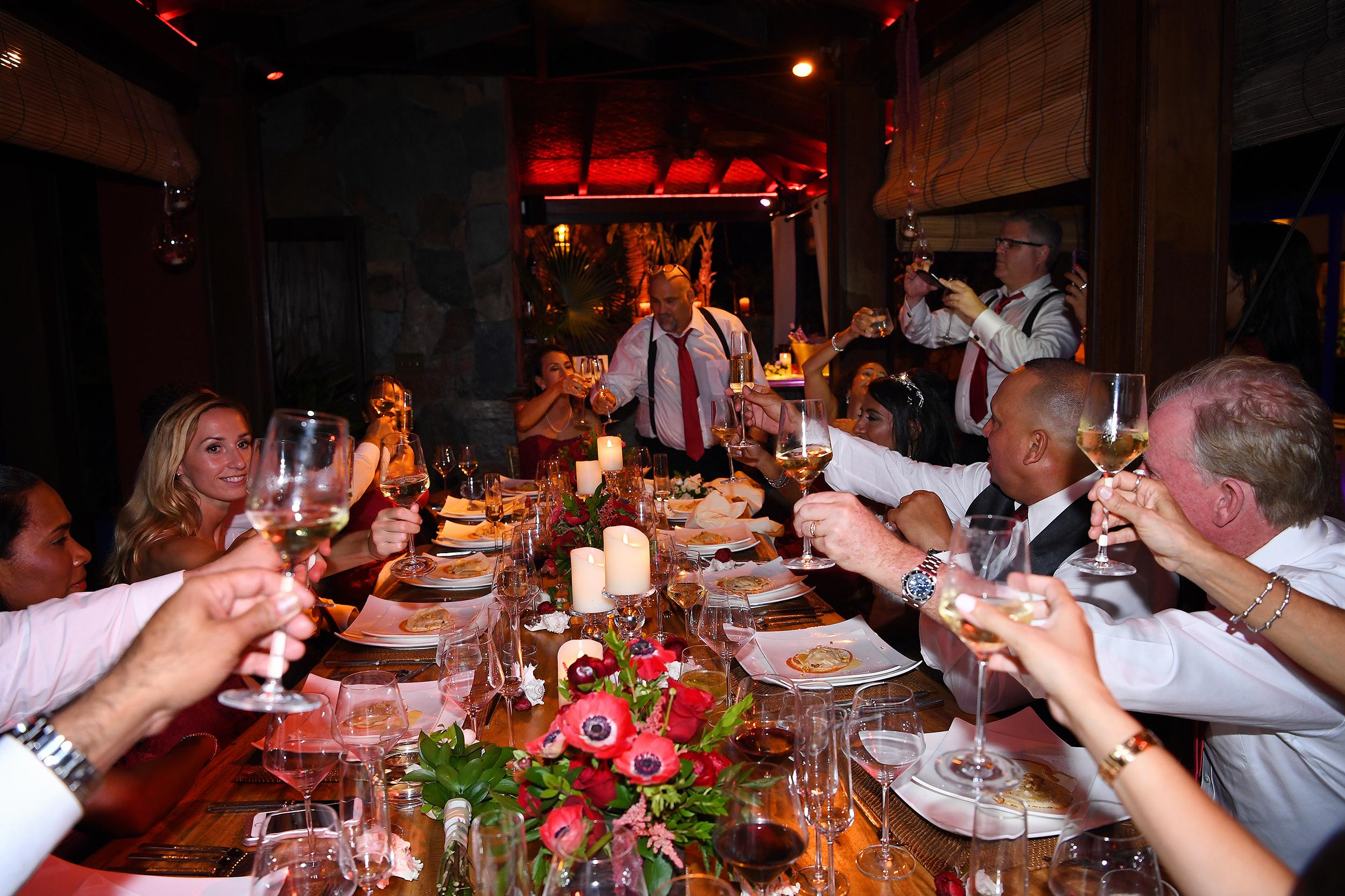 Wedding reception at Villa Norbu - Caribbean Wedding Destinations