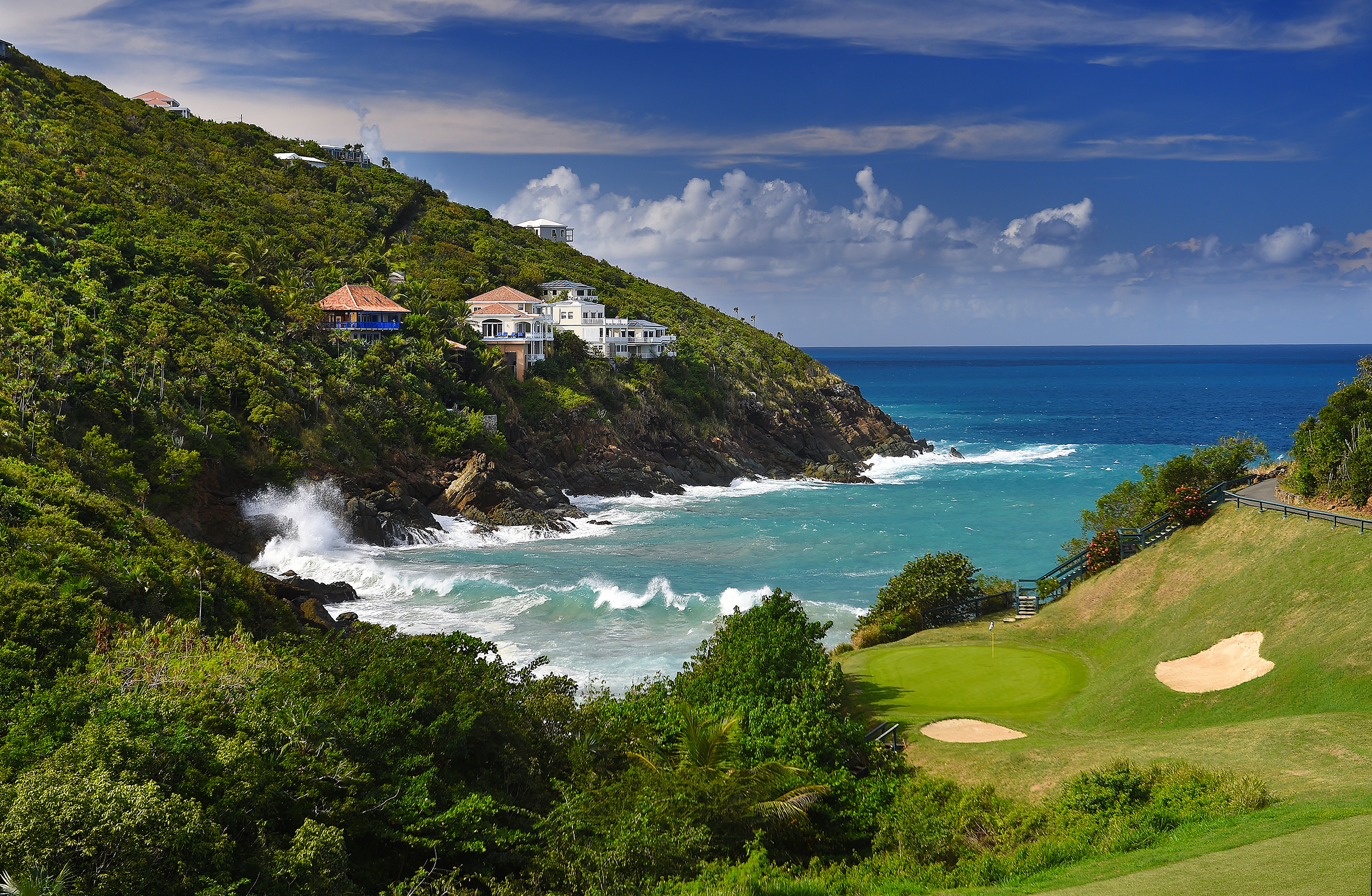 Golf in the Virgin islands - Villa Norbu - Blue Glass Photography