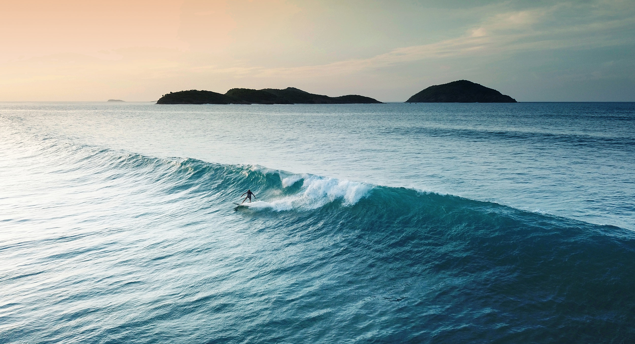 Surfing in the Virgin Islands - Blue Glass Photography