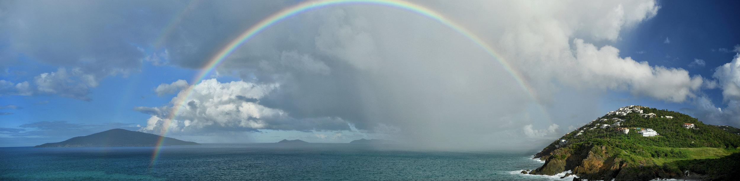 Rainbow at Villa Norbu - Villa Norbu - Blue Glass Photography