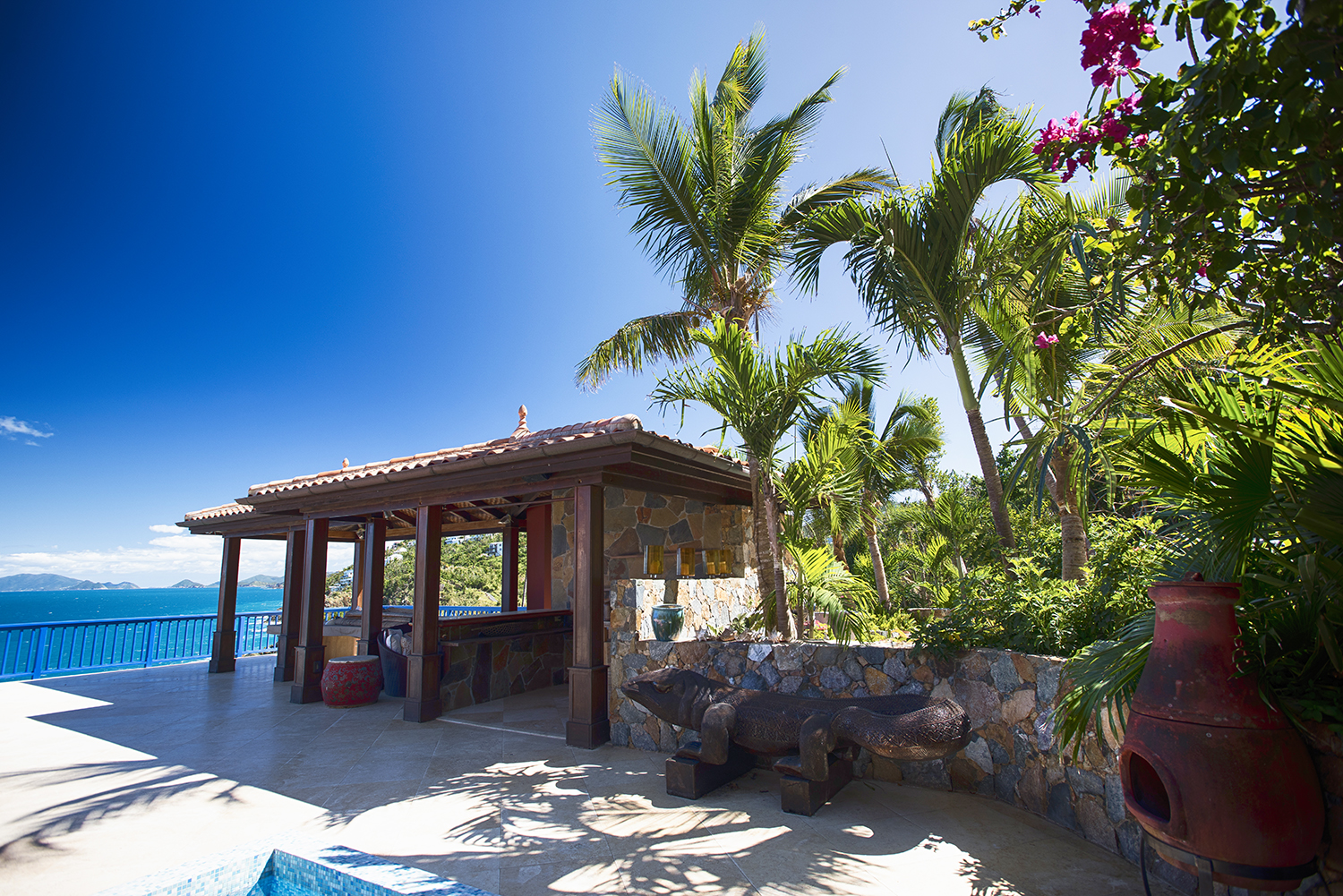 getting married in the US Virgin Islands - Villa Norbu - Blue Glass Photography