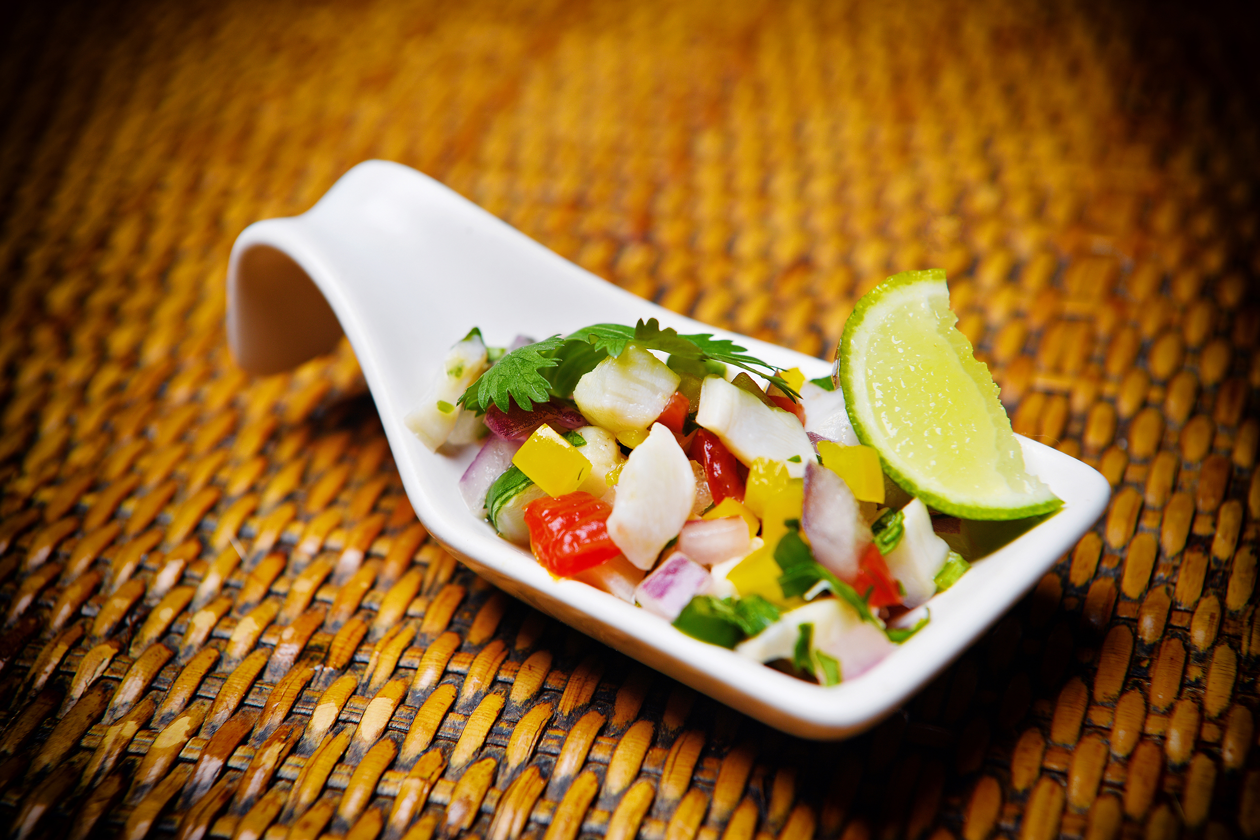 Conch Ceviche at Villa Norbu SEO .jpg - Villa Norbu  Menu - Villa Norbu Dining