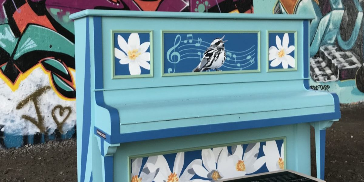 A piano placed on the Beltline by Pianos for Peace.