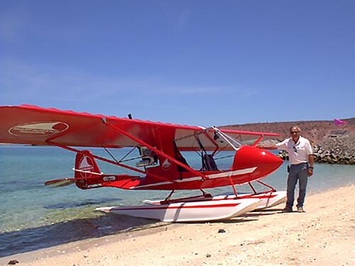 SRI microlight for aerial shark study