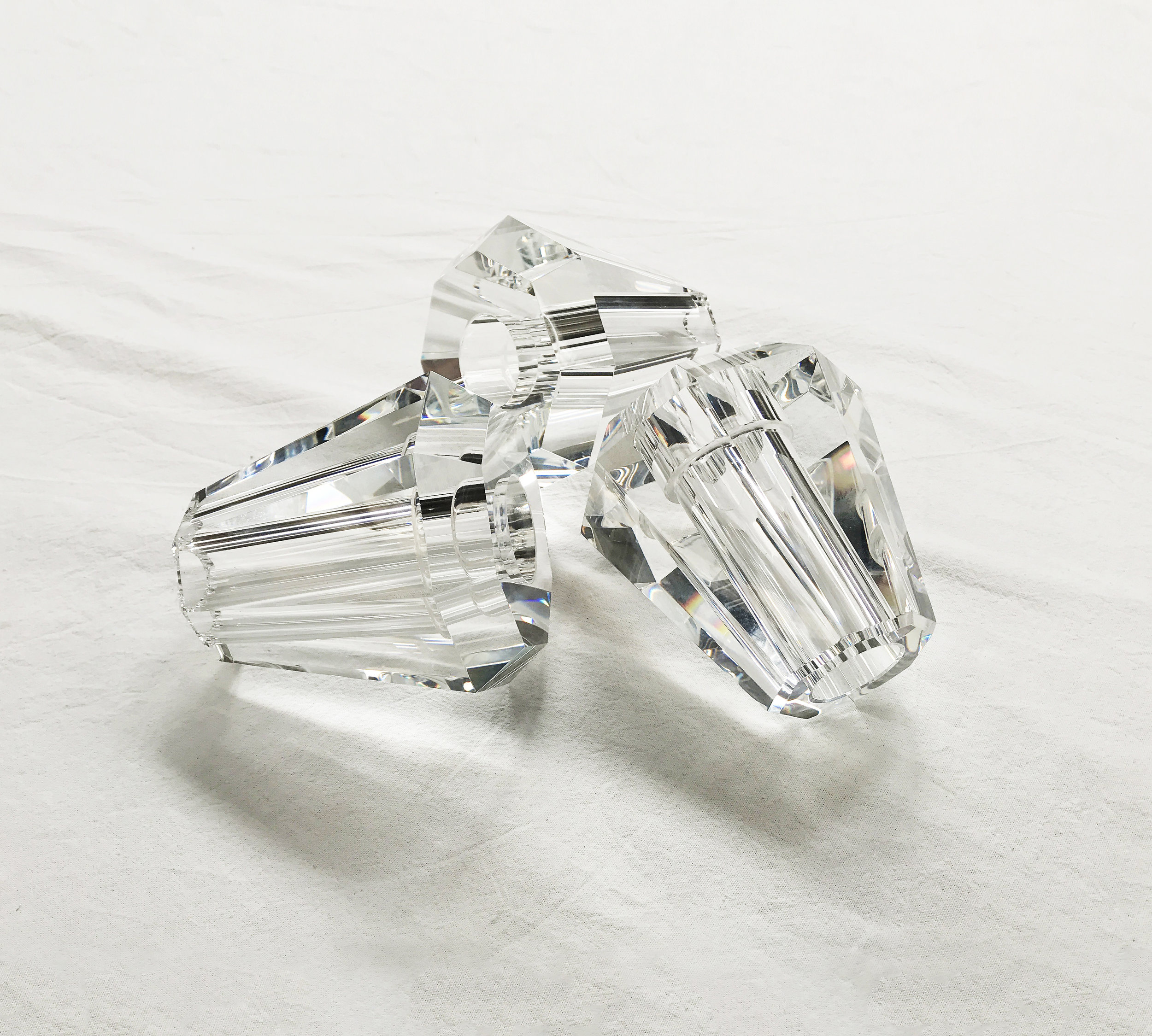 Gestalt Aquiline - photograph of crystal shade prototypes