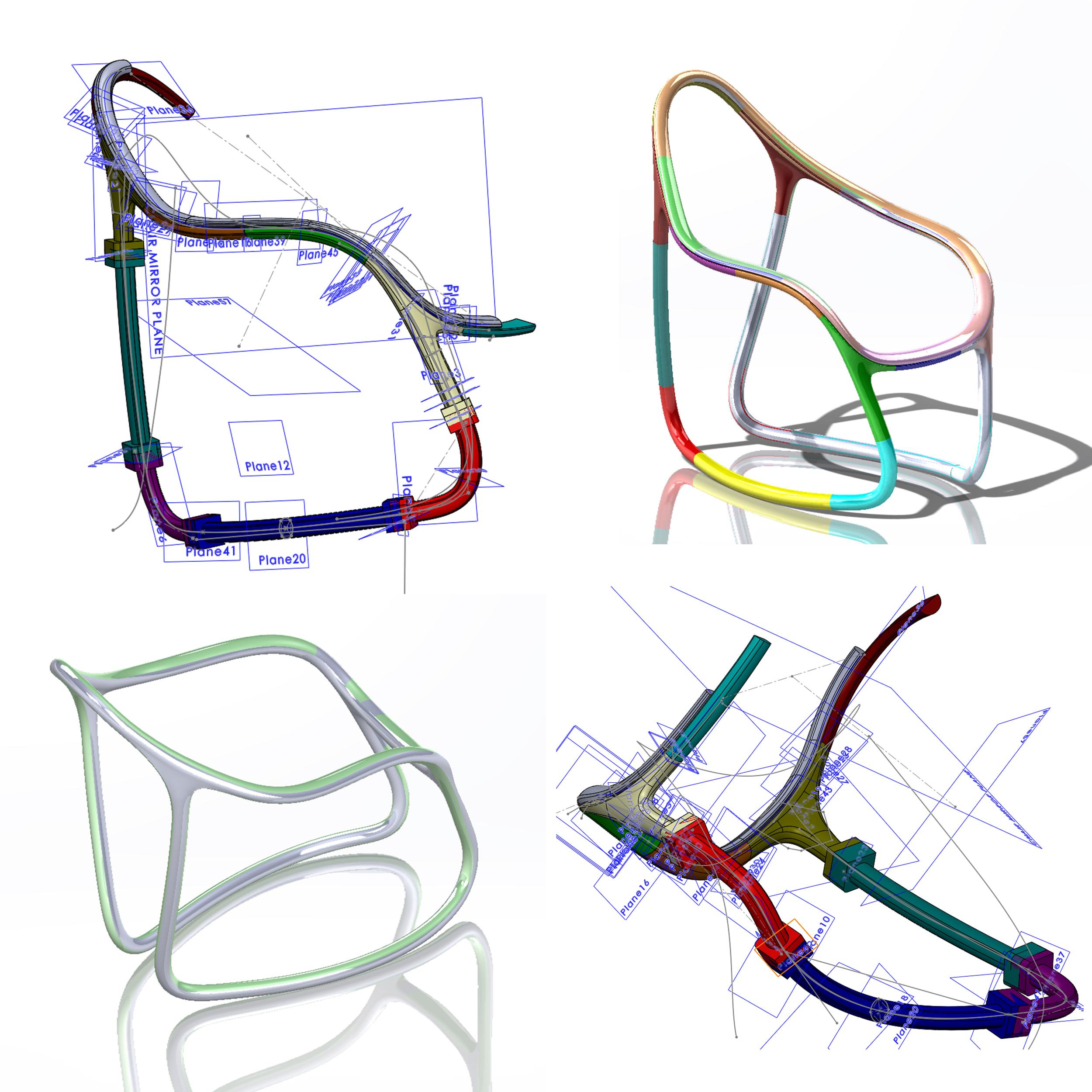 Rush Chair - Snapshots of 3D model