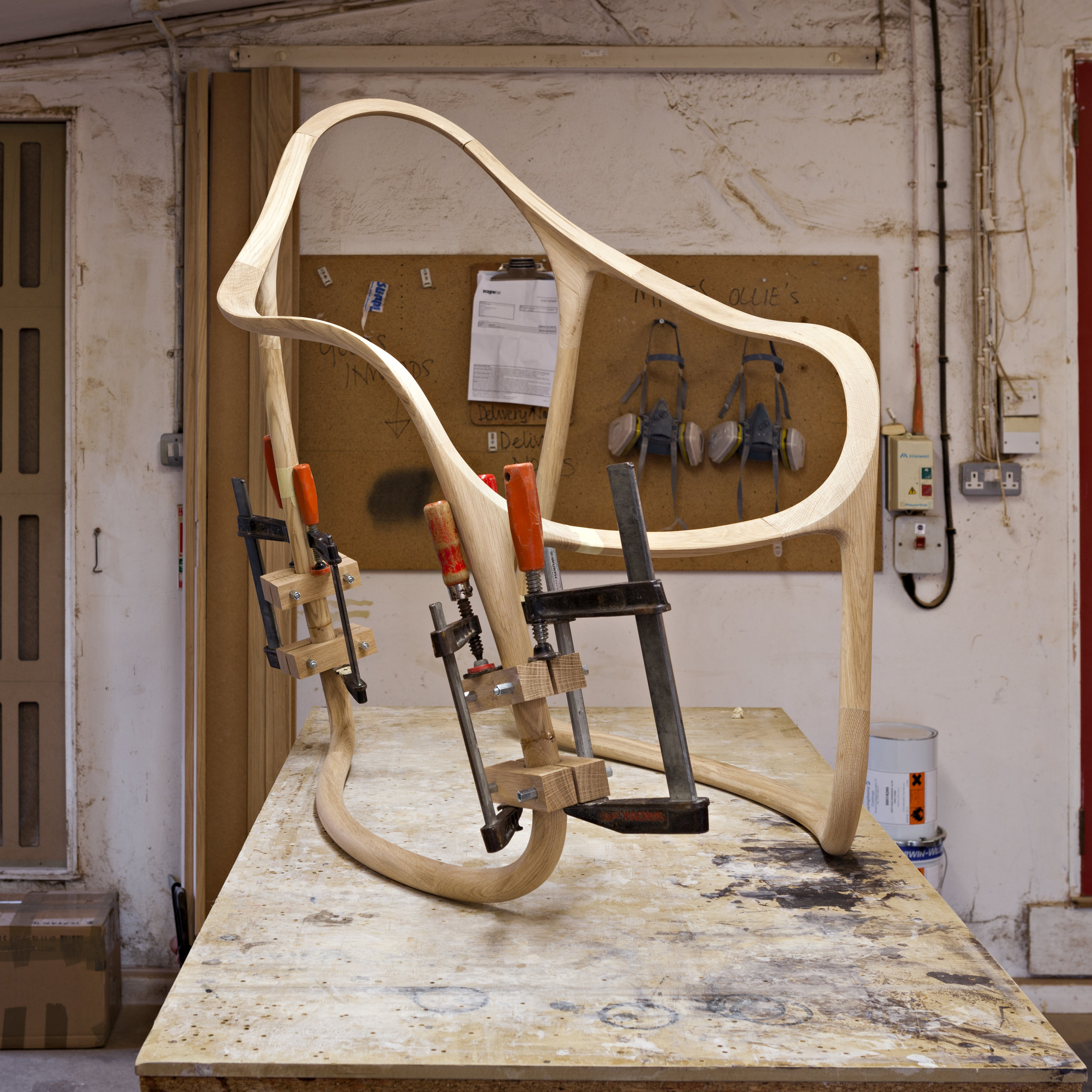 Rush Chair - CNC and hand-tooled chair frame © Michael Franke