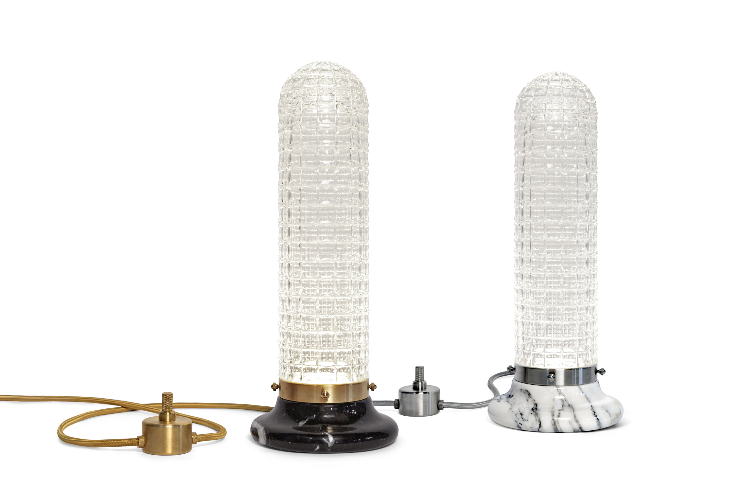 Lighthouse - Table Lamp in two marble base colours © Michael Franke