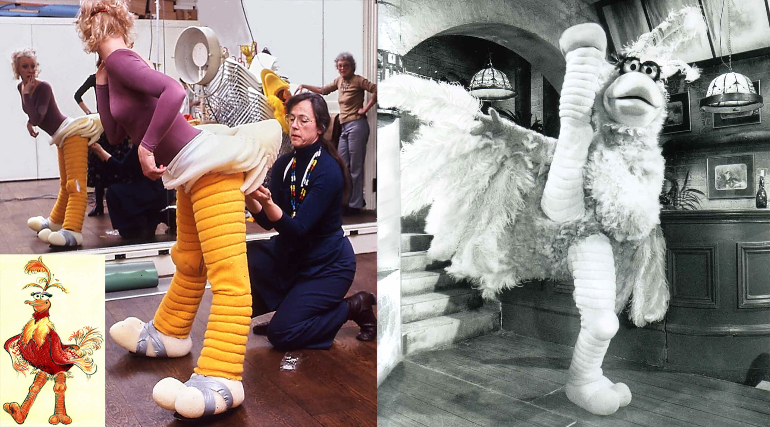 Betsy Baytos as the 'Betsy Bird', featured on  The Muppet Show.