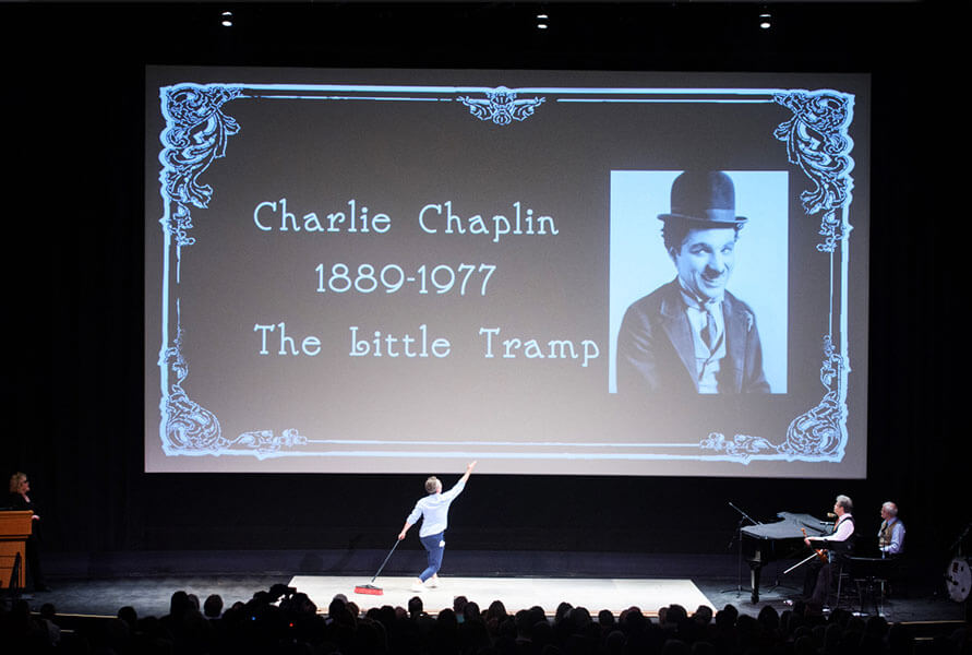 Regis Truchy, from Paris, paying homage to Chaplin.
