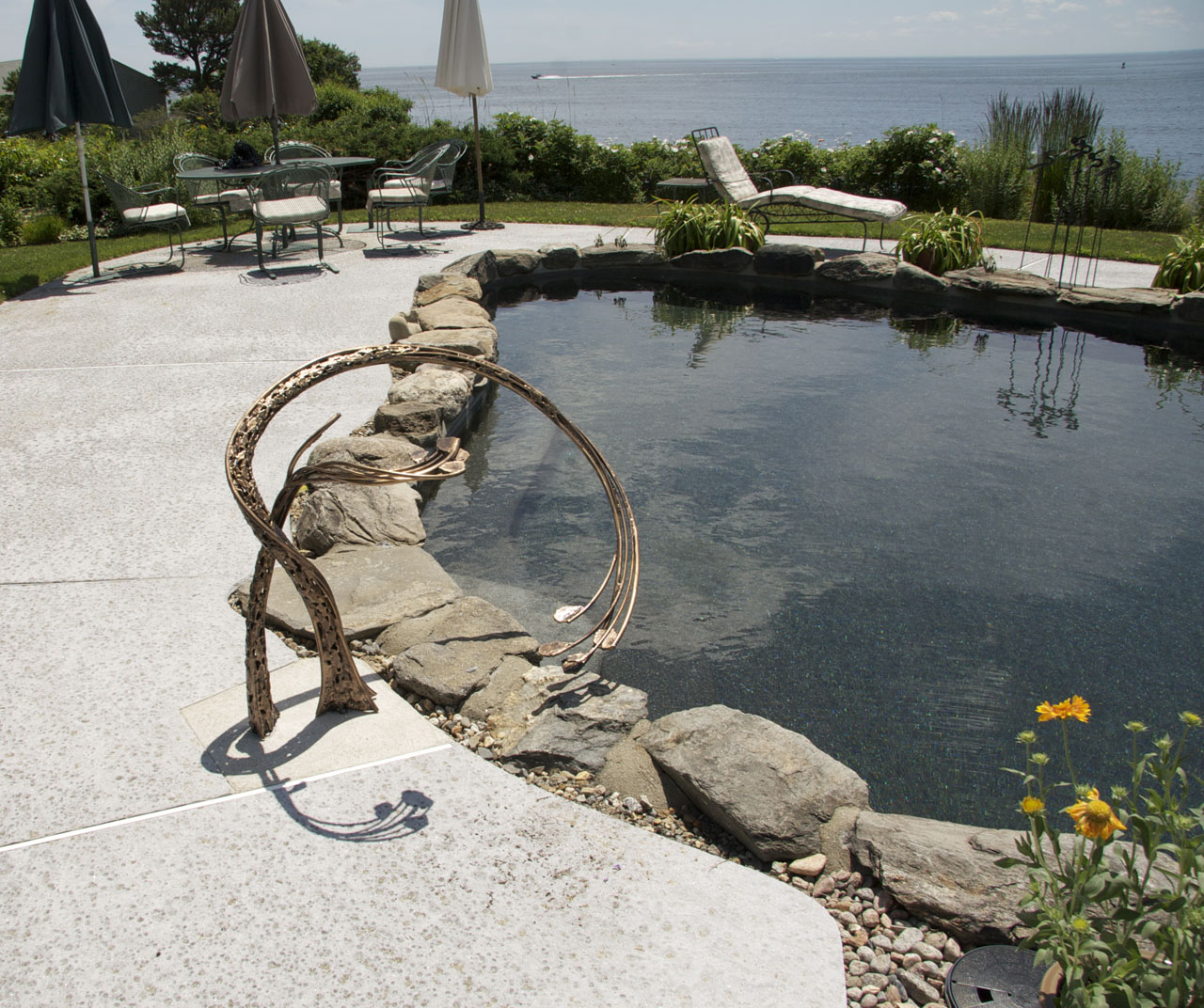 Pool Railing in Bronze