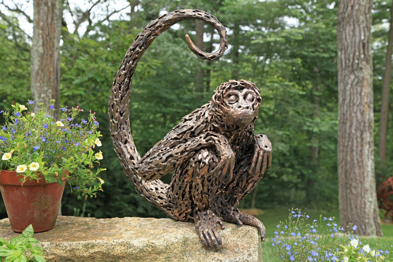 Spider Monkey Sculpture