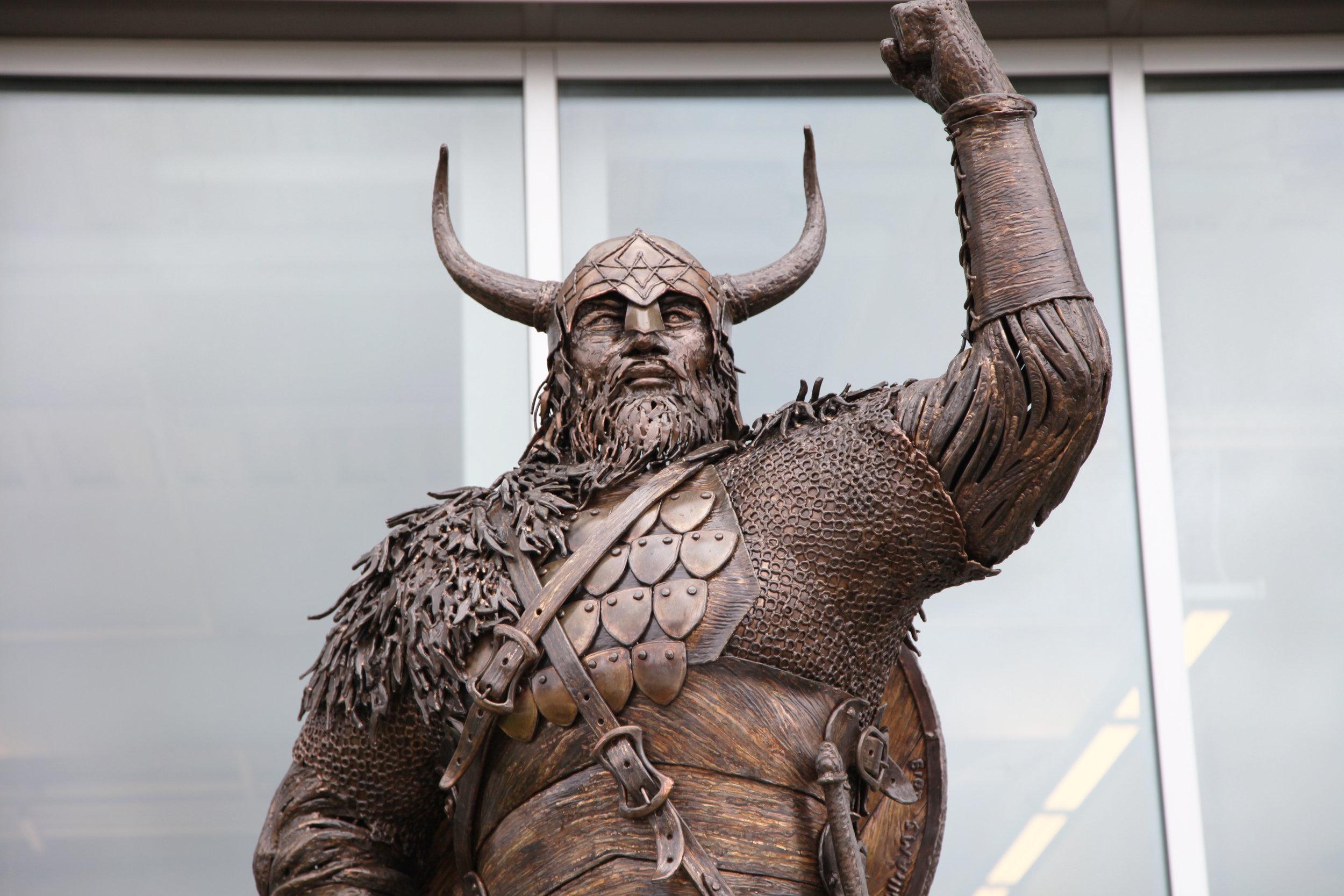 Viking at Salem State Sculpture, Chris Williams