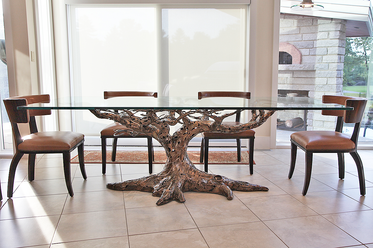 bronze custom table