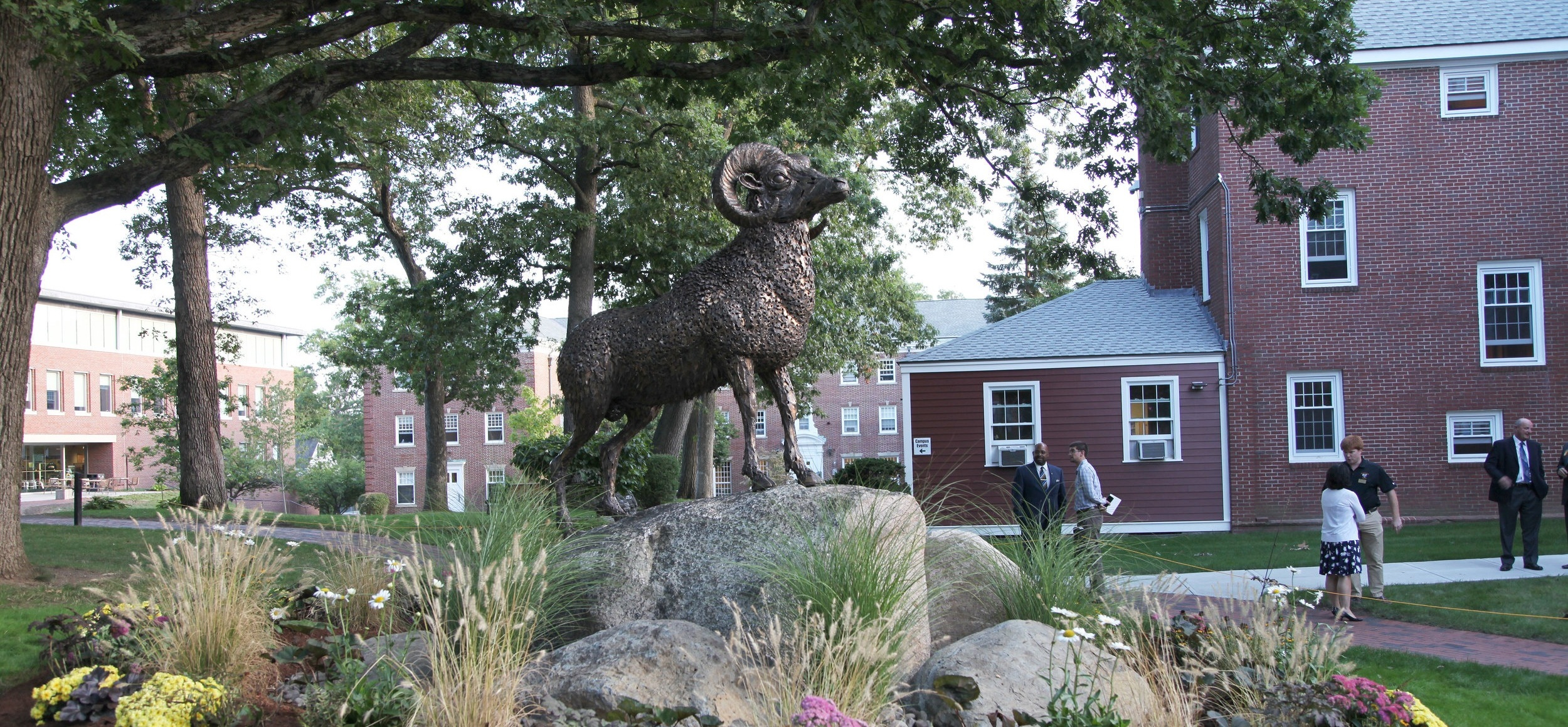 Ram Sculpture by Chris Williams, Framingham State Ram, mascot statues, mascot sculptures