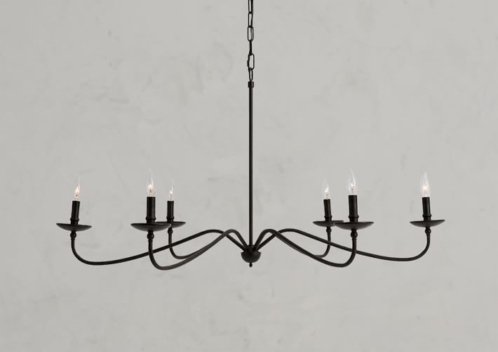Lucca Chandelier, Iron from Pottery Barn