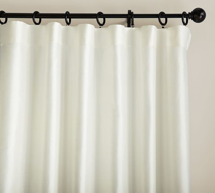 Dupioni Silk Curtain in Ivory from Pottery Barn