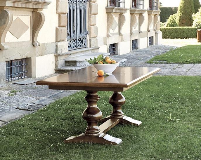 Casa Florentina Tarvine Double Pedestal Dining Table in Antique Walnut from Ballard Designs