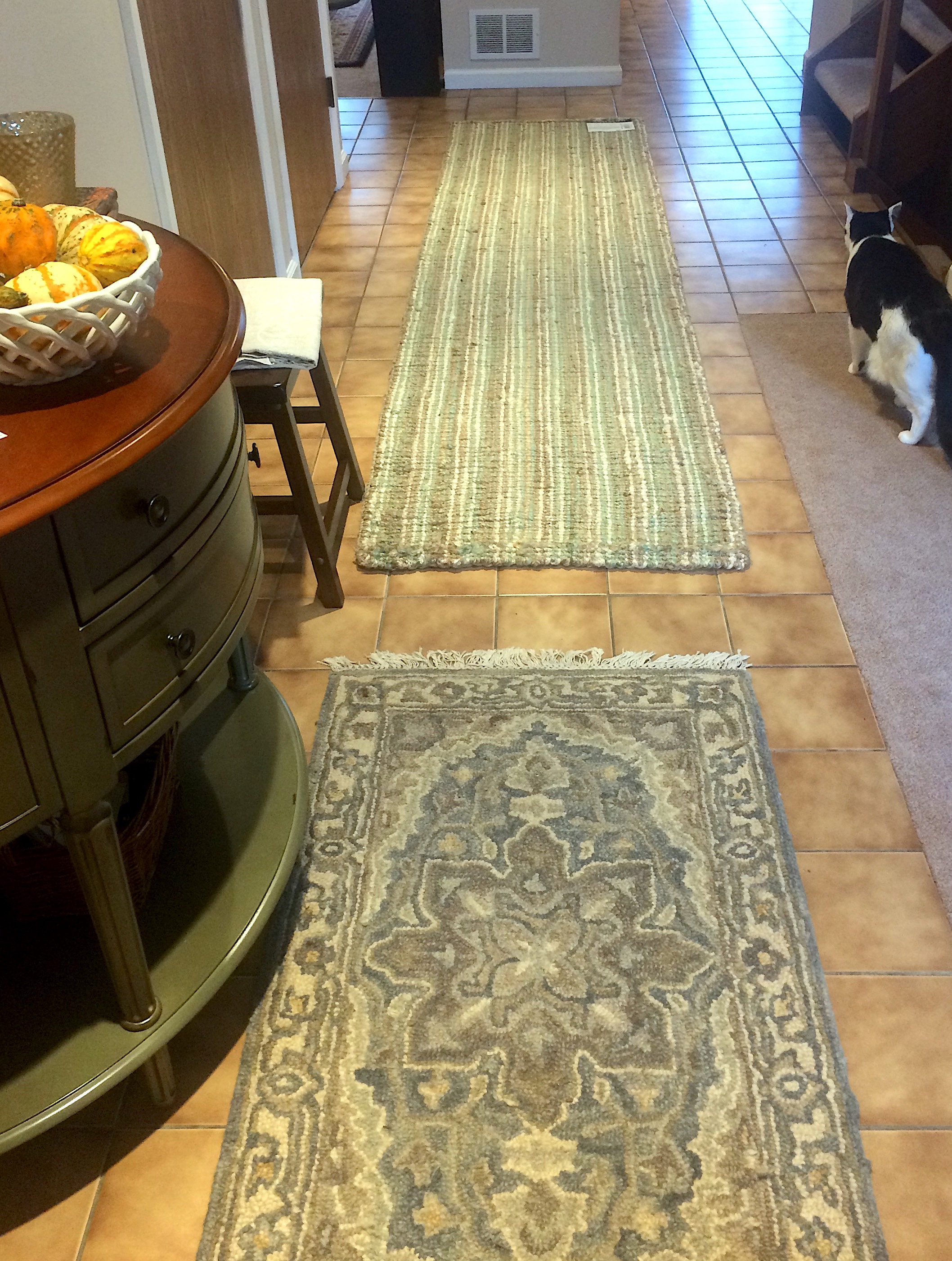 Entryway with  Safavieh Natural Fiber Sage/Natural Runner