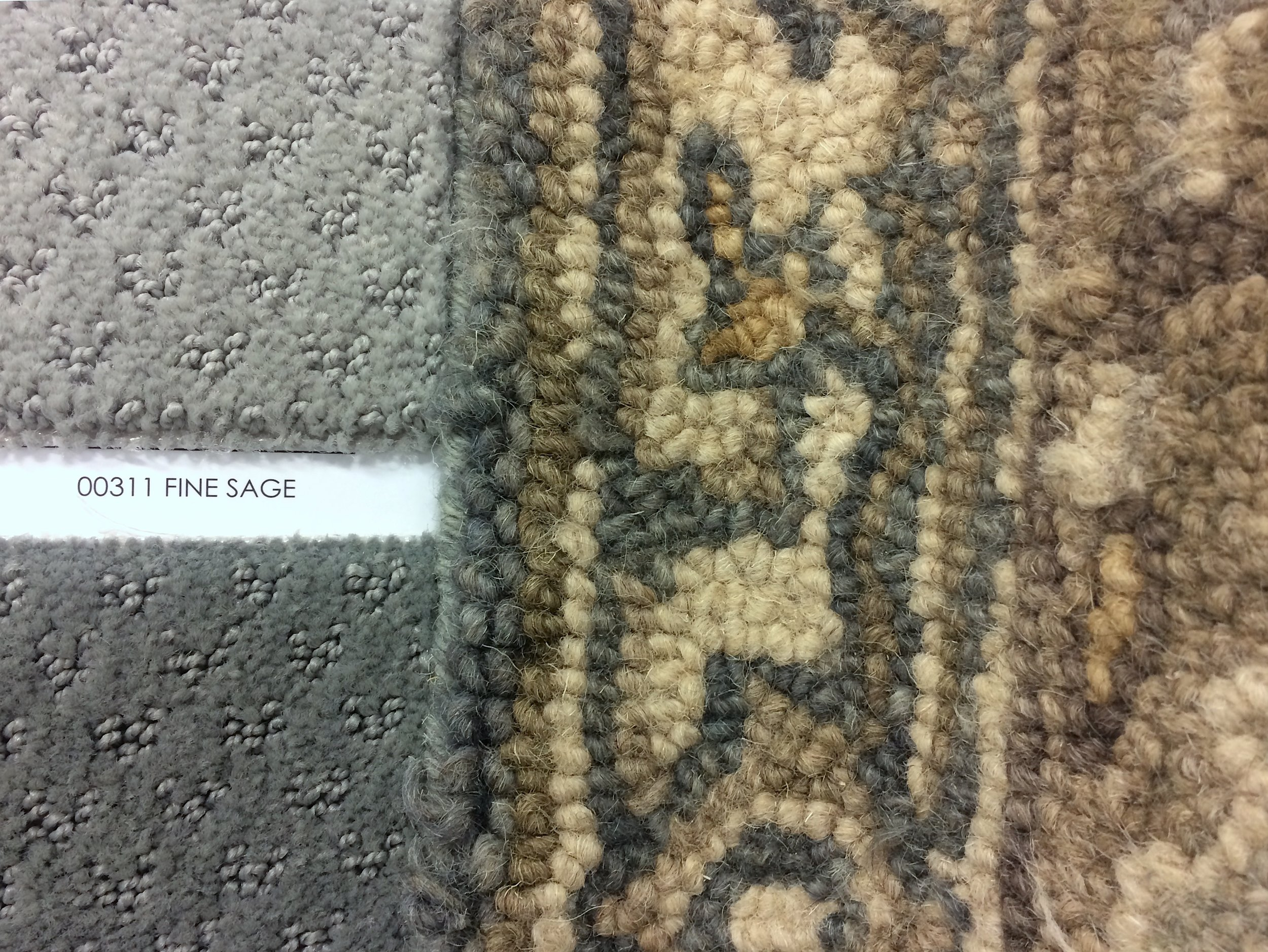 My Magnolia Home rug with custom carpet samples from  Avalon Flooring
