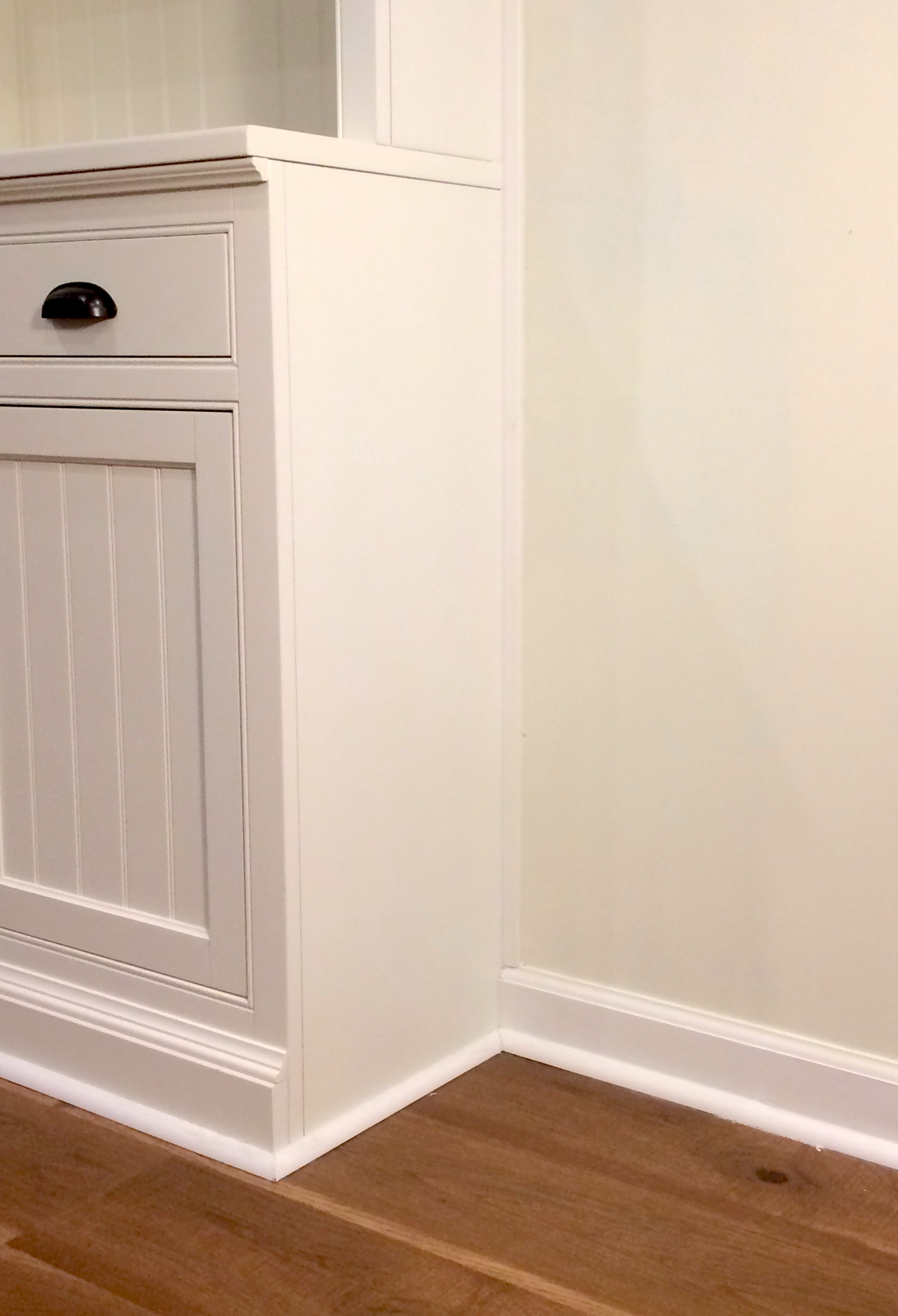 Media Center with wall painted in Acadia White