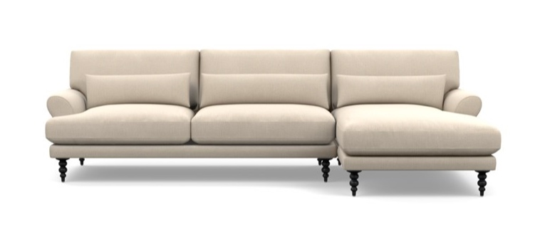 Interior Define Maxwell Sectional with Chaise in Natural, Heavy Cloth