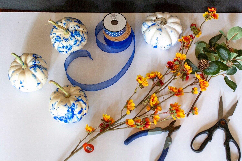 The Lemon Tree Home: DIY Blue and White Pumpkins