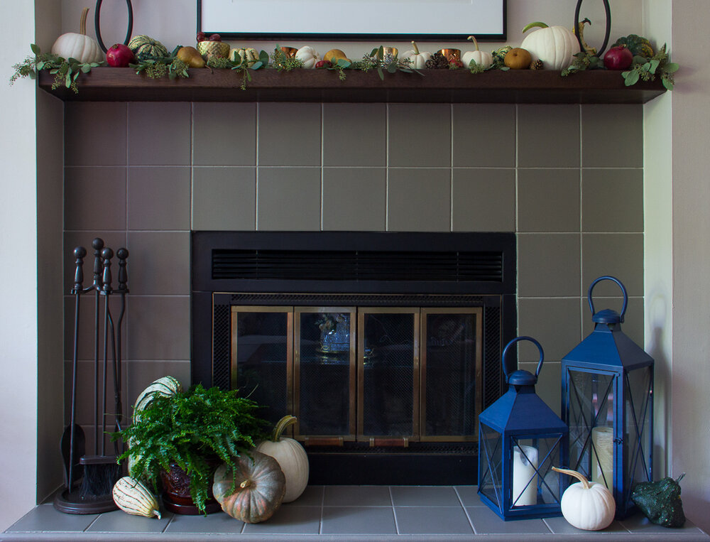 Fireplace Makeover How To Paint Tiles, Can You Tile A Fireplace Surround