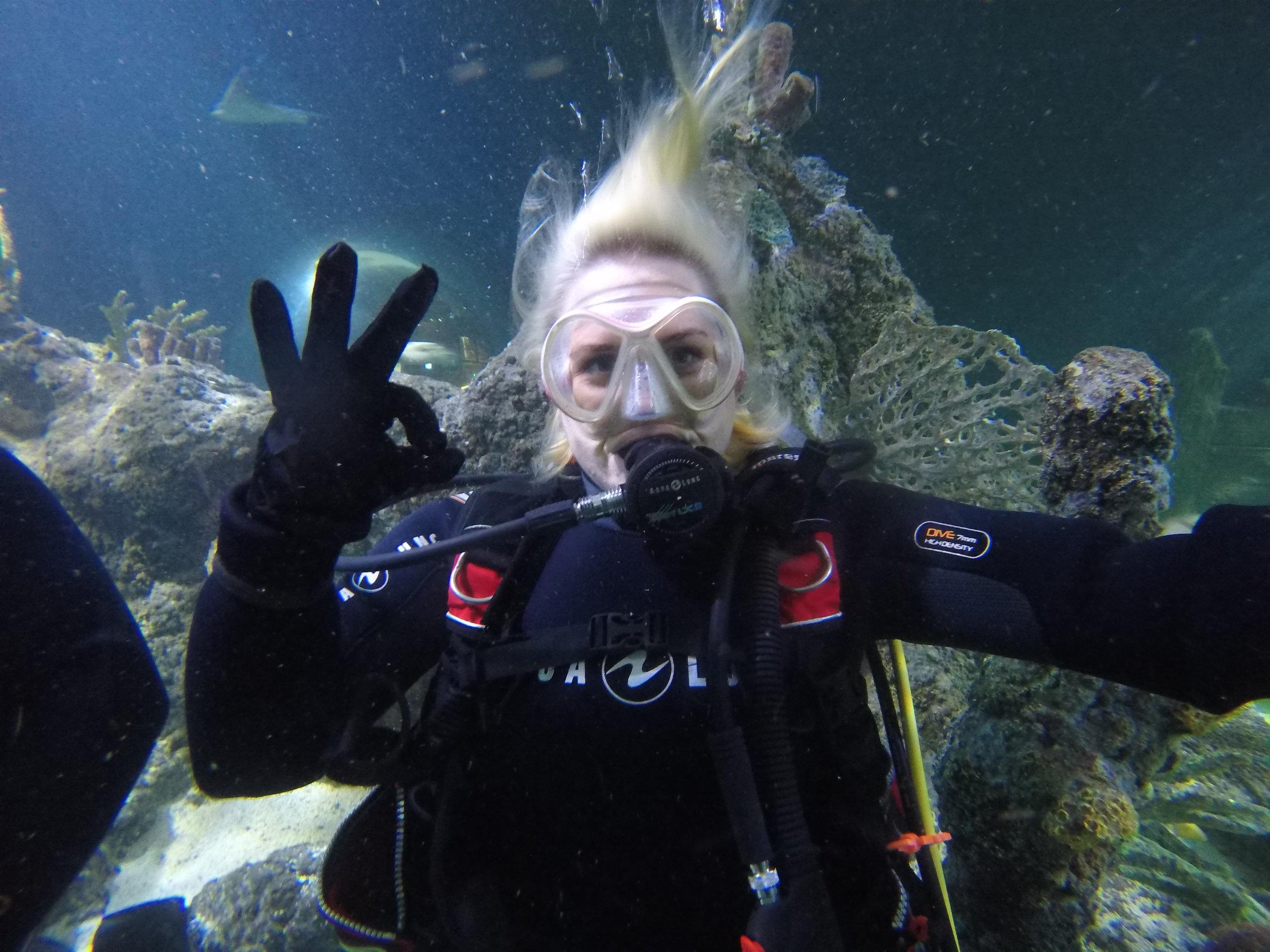 LUEC member Helen at Skegness Aquarium (2018)
