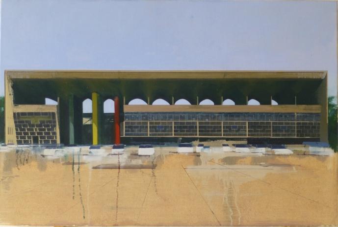 Le Corbusier Chandigarh Four  105 x 70cm