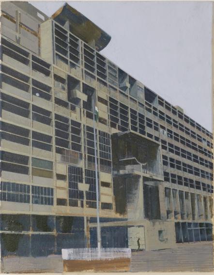 Le Corbusier Chandigarh Six  41 x 51cm oil on canvas
