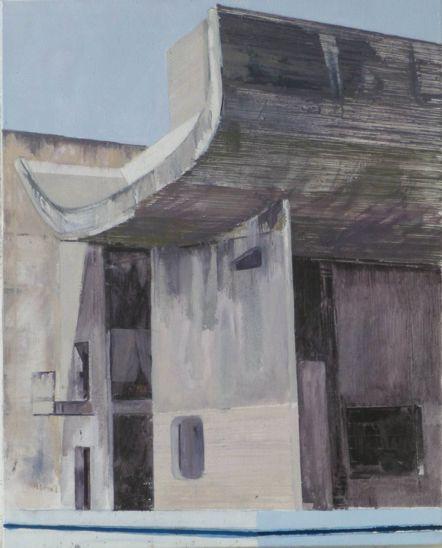 Le Corbusier Chandigarh Three  41 x 51cm oil on canvas