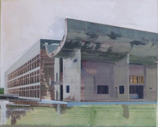 Le Corbusier Chandigarh Seven  51 x 41cm oil on canvas  Private Collection