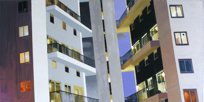 Lasdun One  102 x 51cm oil on canvas