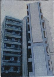 Lasdun - Study 1  18 x 12cm oil on canvas