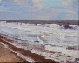 North Sea study 15  25 x 20cm oil on canvas  Private Collection