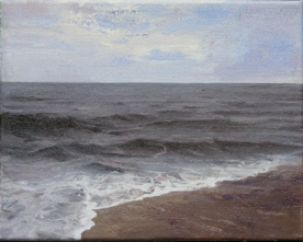 North Sea study 14  25 x 20cm oil on canvas  Private Collection
