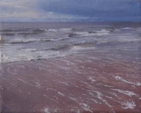 North Sea study 19  25 x 20cm oil on canvas