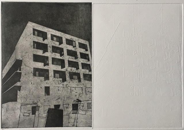 Walter Gropius Bauhaus Dessau One  30 x 20cm aquatint Somerset paper 2016